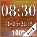 Clock & Battery wallpaper free
