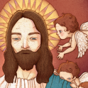 Jesus with little lambs Theme