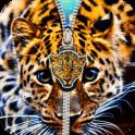 Cute Cheetah Zipper Unlock