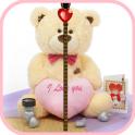 Cute Teddy Zipper Screen Lock