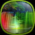Neon Waterfalls Live Wallpaper