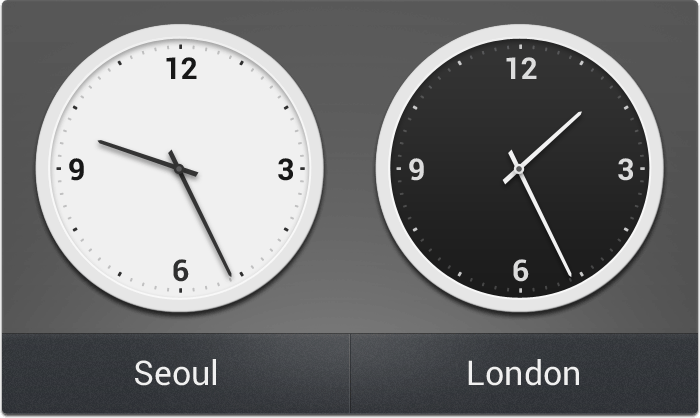 Dual Clock (analog)
