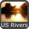 US Rivers gps map navigator