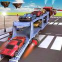 Car Transporter Flying Game 3D