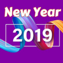 New Year 2019 Greeting Cards