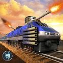 Police Train Shooter Gunship Attack : Train Games