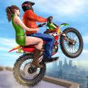 Extreme Rooftop Bike Rider Sim : Bike Games