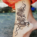 Girls Foot Feet Mehndi Designs