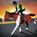simulador caballo policía