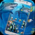 Crazy Shark Theme Blue Sea