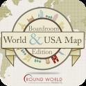 Boardroom World & USA Map
