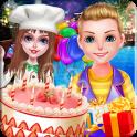 과일 케이크 생일 파티