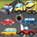 幼児用パズル 乗用車とトラック