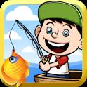 Kleiner Fischer Kinder Angeln
