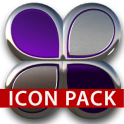 icon pack purple glas 3D