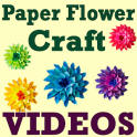DIY Paper Flower Craft VIDEOs