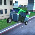 Flying Tuk Tuk Auto Rickshaw