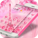 Pink Rose Eiffel love Theme