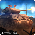 Sherman tank in furious battle live wallpaper
