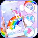 Cute Rainbow Unicorn Theme