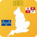 English County Maps and Flags