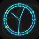 Neon Clock Live Wallpaper