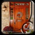 Wood Door with Sidelight