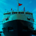 groß cruise Ladung Schiff sim