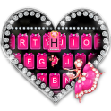 Pink Glamour girl Keyboard Theme