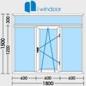PVC and aluminium window and door design-iwindoor