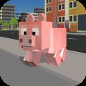 Blocky City Pig Simulator 3D