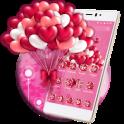 Globos romántico del amor rosa
