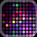 Nightclub Neon Music Dots Tema