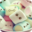 Cute Cartoon Marshmallow Comic theme: Candy Skins