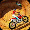 Well of Death Bike Stunt Drive