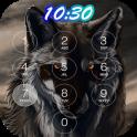 wolf keypad lock screen