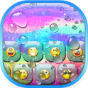 Color Rain Emoji Keyboard