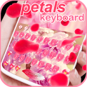Pink Cute Flower Rose Red Petals Keyboard Theme