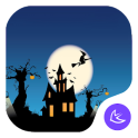 Scary Halloween pumpkin night free theme