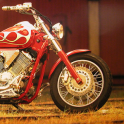 Motorcycle racing car Puzzle