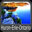 Huron Erie Ontario Lakes GPS Map Navigator