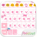 Pink Knot Emoji Keyboard Theme
