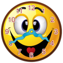 Smiley Face Clock Widget