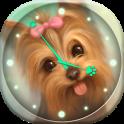 Puppies Analog Clock Widget