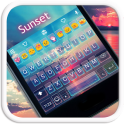 Sunset Emoji Keyboard Theme