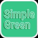 Simple Green Emoji Keyboard