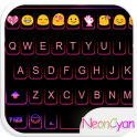 Cute Neon Emoji Keyboard Theme