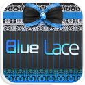 Blue Lace Emoji Keyboard Theme