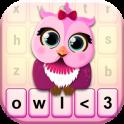Cute Owl Keyboard Theme