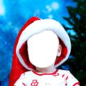 Weihnachtsfotomontage